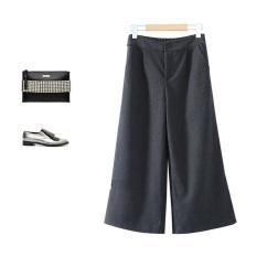 Miyuki Miyabe Celana Kulot Midi Pants Cullotes Fashion Wanita Baju Import Korea