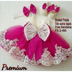 MJ Dress Anak Princess Premium Kids - Pink