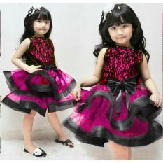 MJ Dress Anak Winter Kids - Hot Pink