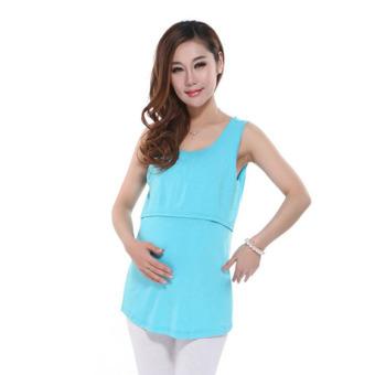 a125434c368d9 Modal Breastfeeding Pregnancy Maternity Clothes Sleeveless Nursing Tank Top  Maternity Tops For Pregnant Women(Blue