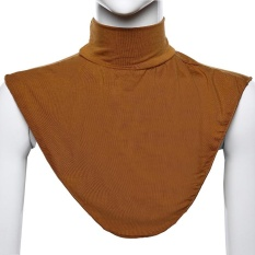 Modal Moslem Hijab Islamic Turtleneck Neck Cover Collar Fake collar Shirt Cover Muslim Wear Tan - intl