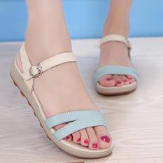 Mode New Datar Heel Sandals Non-slip Kulit Asli Sepatu Santai Datar Sandals Rose New Fashion Flat Heel Sandals Non-slip Genuine Leather Shoes Casual Flat Sandals Rose