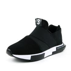 Mode Sneakers Pasangan Sepatu Kasual Sepatu Running Sepatu Kaki Nyaman Fashion Sneakers Couples Casual Shoes Black