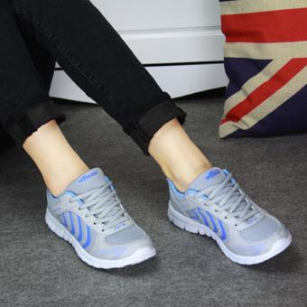 Moonar olahraga kasual fashion wanita jala sepatu kets tali sepatu-sepatu trek ukuran 36-