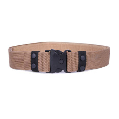 Moonar Outdoor Military Adjustable Fastener Dual-Safety Nylon Belt Brown