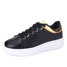 MT Fashion Casual Shoes, Sports Shoes Breathable College Wind (Black) - Intl
