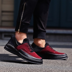 MT New Urban Fashion Casual Shoes, Hot New Fall Trend Of Men's Shoes, Comfortable Non-slip (Red)