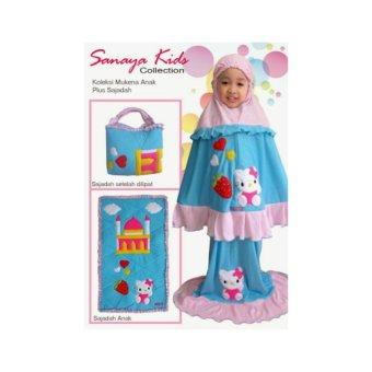 Mukena Anak Sanaya Kids Hello Kitty Fit L