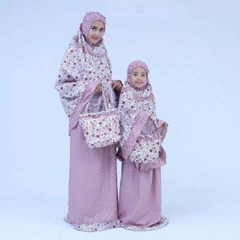 Mukena Cantik Katun Jepang Untuk Couple Ibu Anak - Pink