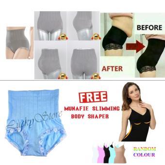 Munafie Slim Pant Celana Korset Grade A (All Size) - Blue / Biru -