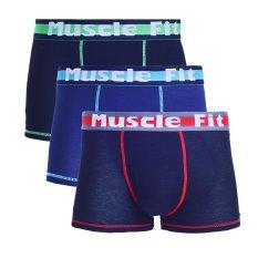 Muscle Celana Dalam Pria Fit MFBX 107 Boxer - 3 Buah - Hitam