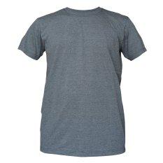 Muscle Fit Kaos Polos T-shirt O-neck Lengan pendek Cotton - Misty Abu