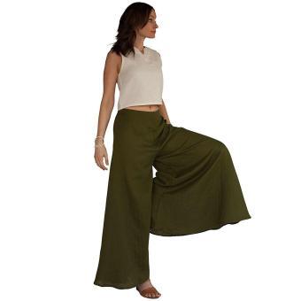 MXH fashion Women Flare Wide Leg Long Pants - intl