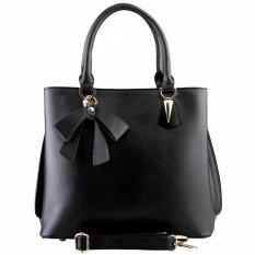 Nana Blanche Pretty Ribbon Tas Kerja Premium / Tas Selempang dan Tas Tangan Wanita - 1507 Hitam