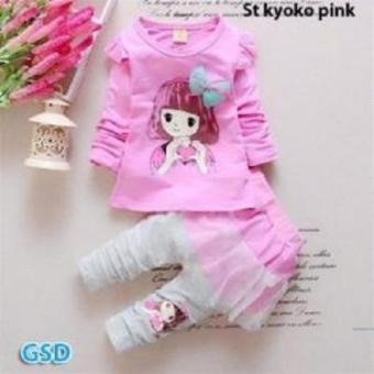 NCR-Setelan Baju Anak Cewe St yoko-yoko Pink