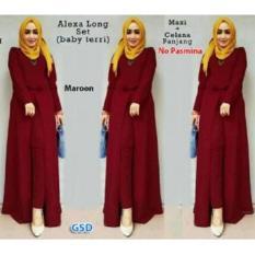 NCR-Setelan Baju Muslim Wanita Terbaru-Set Xaxa Maroon
