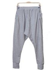 New 2015 Men Women Lovers Fashion Sweatpants Dancing Hip Hop Harem Pants Drop Crotch Casual Trousers Grey Color M L XL (Intl)