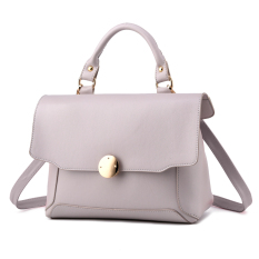 New Arrival Hot Sale Quality Assurance 2016 Fashion Personality Women Bag Shoulder Tote Luxury Handbag Leather free Shipping(Grey) - Intl
