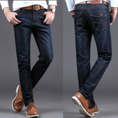 New Arrival Mens Designer Jeans Luxury Classic Slim Fit Casual Jeans Pant Men Fashion Straight Denim Biker Jeans Men Pants -dark Blue