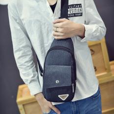 New Chest Package Men's Korean Bag Crossbody Bag Leisure Outdoors Sports Canvas Small Handbag Rucksack Tote Bag Male Bag - Intl