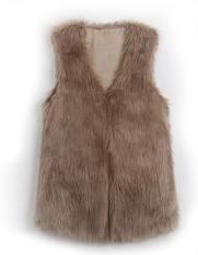 New Chic Lady Faux Fur Vest Winter Warm Coat Outwear Long Hair Jacket Waistcoat - Intl