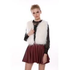 New Chic Lady Faux Fur Vest Winter Warm Waistcoat Outwear Long Hair Jacket Waistcoat