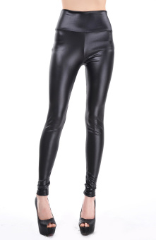d484e126fc New fashion 2015 High Waist legging Stretch Faux Leather black 4 color sexy  women Pants legging