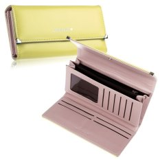 New Fashion Lady Women Purse Long Wallet Bags PU Handbags Card Holder Gift (Yellow)