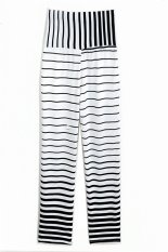 New Fashion Lady Women's Joggers Sport Trousers Striped Long Pants (Intl)