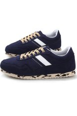 New Fashion Men Sneakers Brand Casual Men Shoes Nubuck Leather Shoes (Blue) - Intl