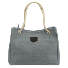 New Fashion Women Canvas Bag Single Or Double Rope Large Capacity Casual Shopping Shoulder Bag
