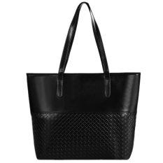 New Fashion Women Elegant Large Capcity Solid Shoulder Bags Handbag Casual Tote (Black) (Intl)
