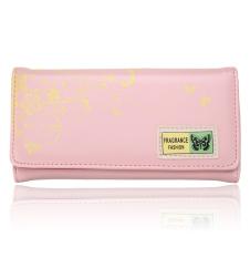 New Fashion Women Lady Long Purse Clutch Button Wallet Bag Card Holder Handbag Light Pink - Intl
