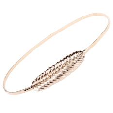 New Fashion Women Metal Belts Leaves Belt Elastic Leaf Waist Belt