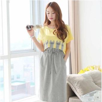 6673b45f50557 Harga New Fashion Womens Pregnant Loose Dress Maternity Nurse Skirts ...