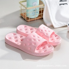 New Home Slippers Four Seasons Bath Water Leak Slippers Men and Women Soft Bottom Out of the Bathroom of the Bathroom Home Cool Pink - intl