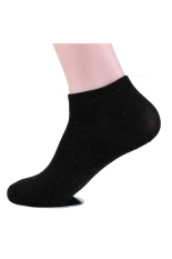 New Lot Men Sport Low Cut Crew Cotton Ankle Sport Socks Casual Socks (Black)