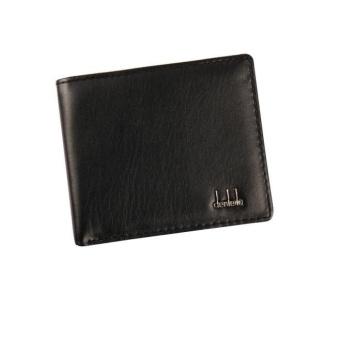 New Men Bifold Business Leather Wallet ID Credit Card Holder PursePockets - Black - intl