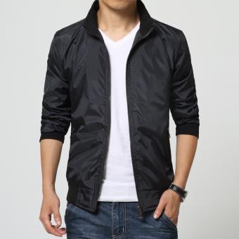 New Men's Large Size Long-sleeved Jacket (Black)