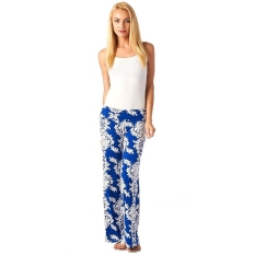 New Printed Women Trousers Loose Pants Light Blue (Intl)