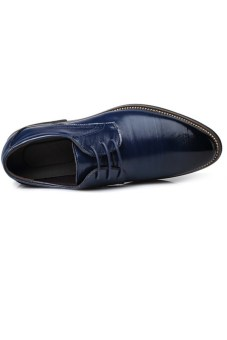 New Style Men's Fashion Breathable Formal Casual Shoes (Blue)