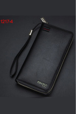 New Style Mens Wallet Business Zipper Purse Large Capacity Men Handbag Black 4