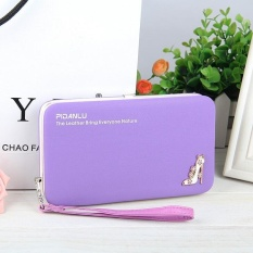 New style women's High-heeled shoes pencil case wallet Ms. Lunch box style purse Mobile Phone Bags(purple) - intl
