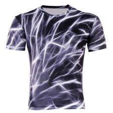 New Summer Casual Men T-Shirts 3D Cotton Blend Men's O-neck Short Sleeve Code B (Intl)