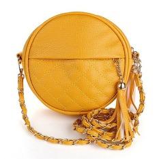 New Tassel Chain Small Women Bags Fashion Designer Girls Messenger Bag Brand Leather Crossbody Bags Candy Colors Lady Handbags (Yellow) - Intl