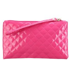 New Women Ladies Soft Leather Clutch Wallet Long PU Card Purse Handbag Rose Red