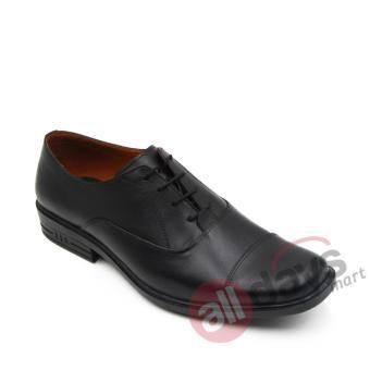 Harga NewJustine - Sepatu Pantofel Kulit Asli Pria OX 12 - Black ... ba1aee7bc2