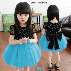 Nicer-Minidress Imut Anak Cewe-Dress Shan Shan Blue