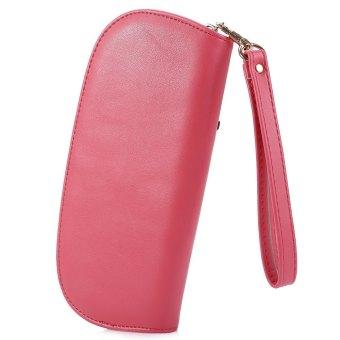 Nicole Manisnya Kulit PU Lucu Hantu Perempuan Ritsleting Tas Dompet Pemegang Kartu (Merah)