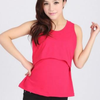 8b383ada709e0 Harga Nursing Tops Maternity Clothes Short Sleeve T-shirt Pregnancy ...